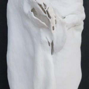 Lo scrigno, 2015 gesso su tavola cm 55x30