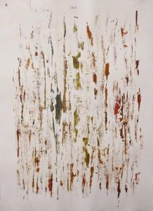 Tracce, 2015 acrilico su carta cm 76x56